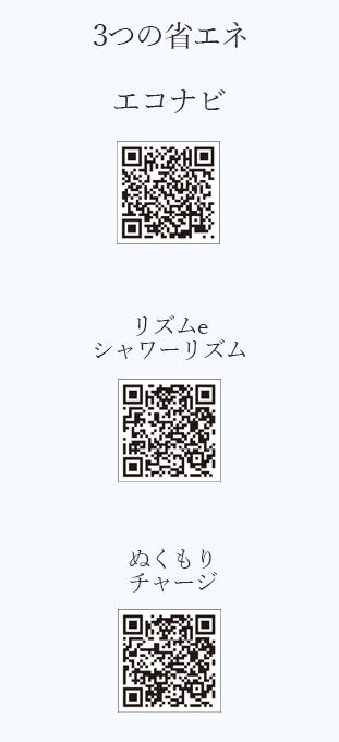 3つの省エネQRコード