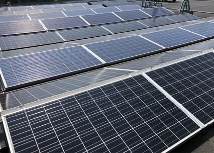 ソーラーパネルの写真